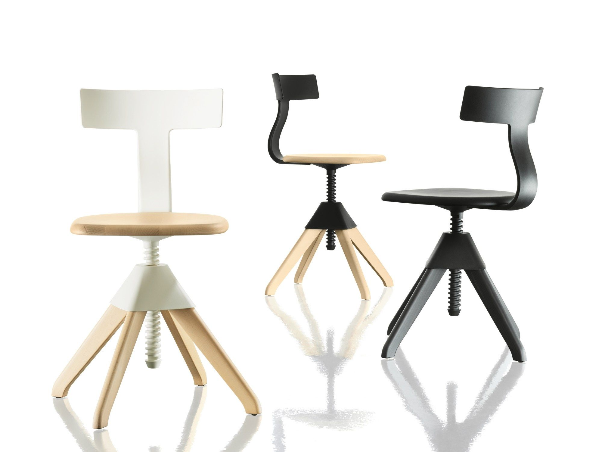 Sedia ad altezza regolabile TUFFY – THE WILD BUNCH by Magis design Konstantin Grcic