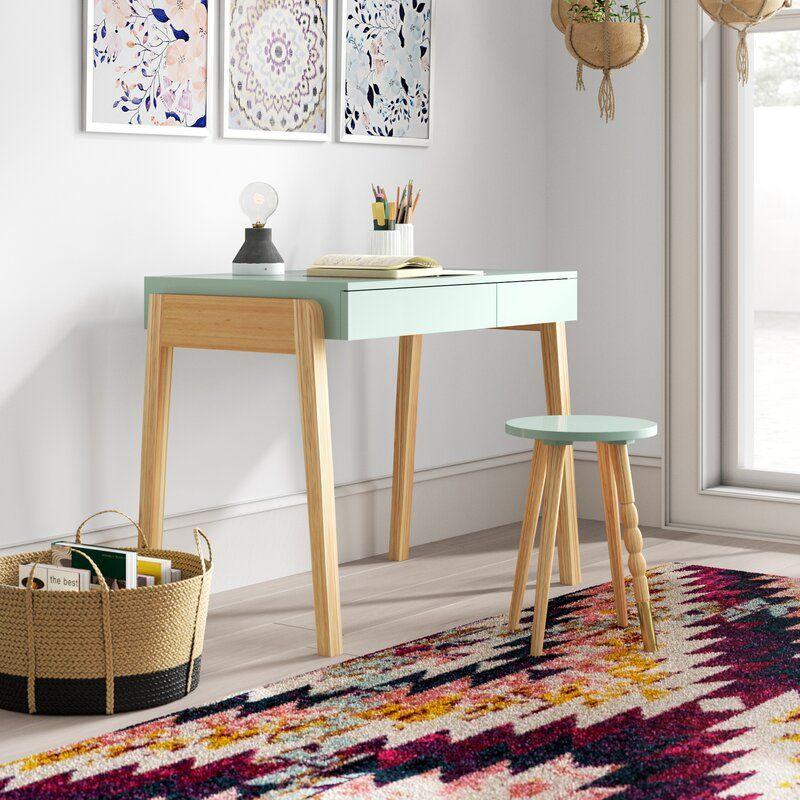 Amani desk desk and chair set contemporary writing desk