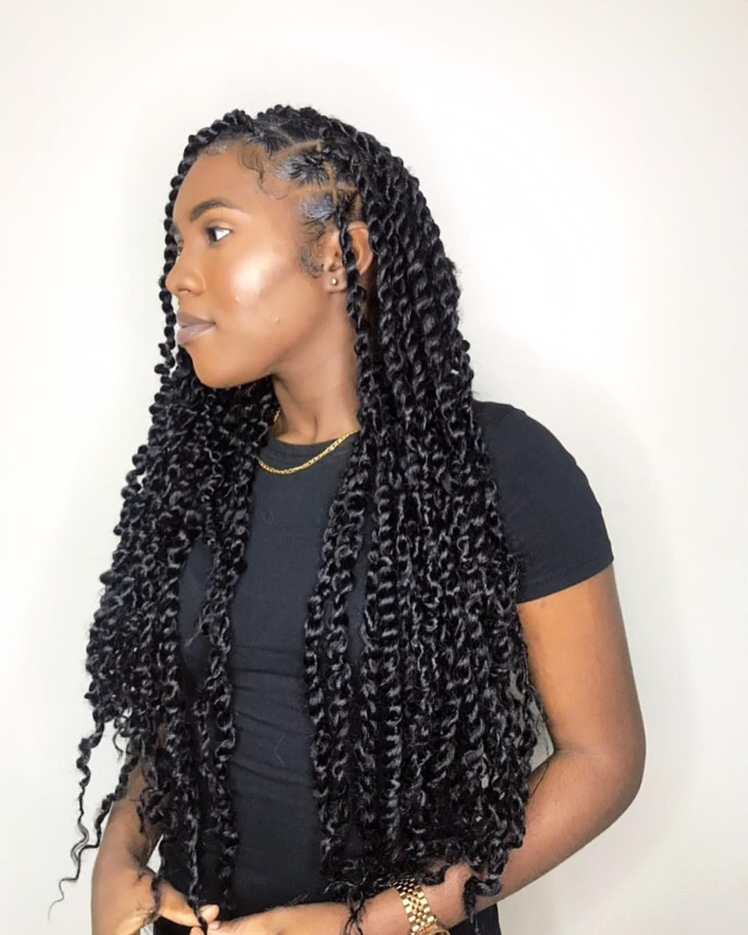 Her first protective style and she loves it ???? | inspired by Hun @xolovekailyn | #passiontwists #synthetic #donebygenie #natural… #protectivestyles