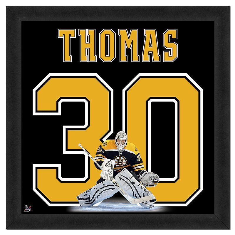 Tim Thomas Framed Jersey Photo Wall Art, Multicolor