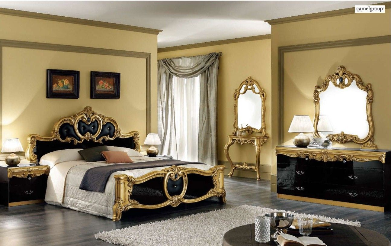 Modern Contemporary Bedroom Sets  Italian Spain Bedrooms  Master Impressive Black And Gold Bedroom Ideas Design Inspiration