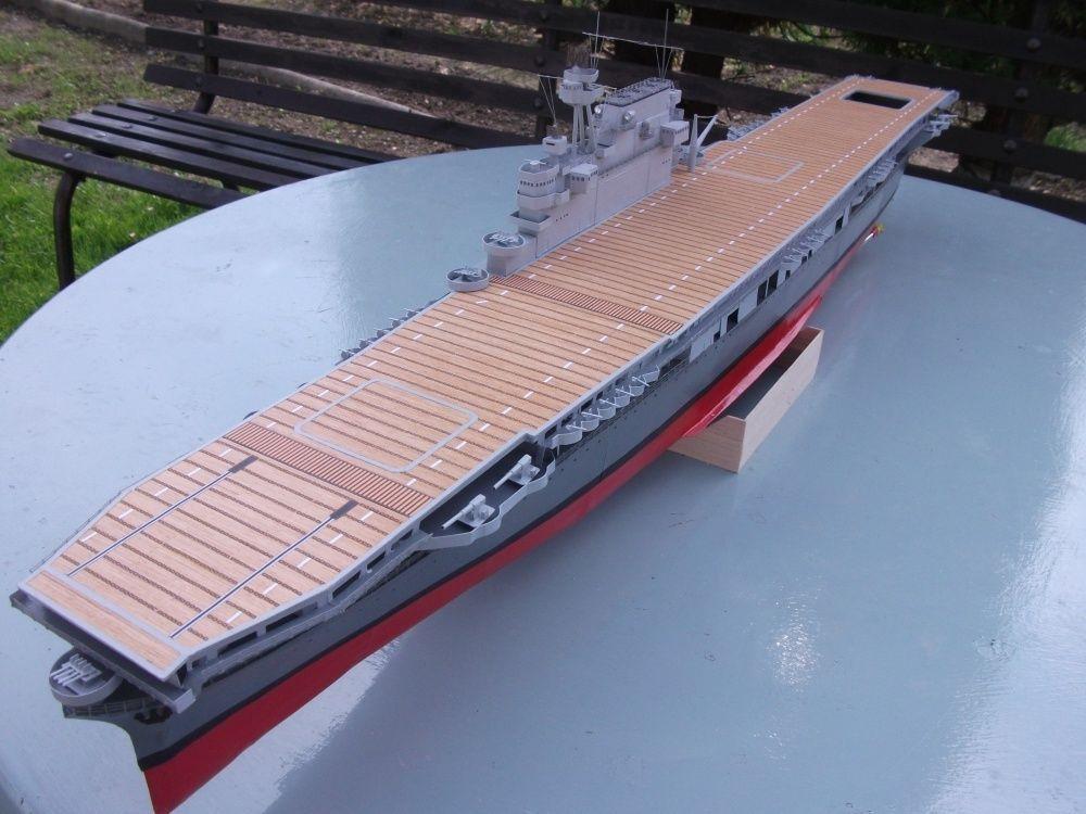106 1:300 WWII USS Enterprise (CV-6) aircraft carrier Paper Model ...