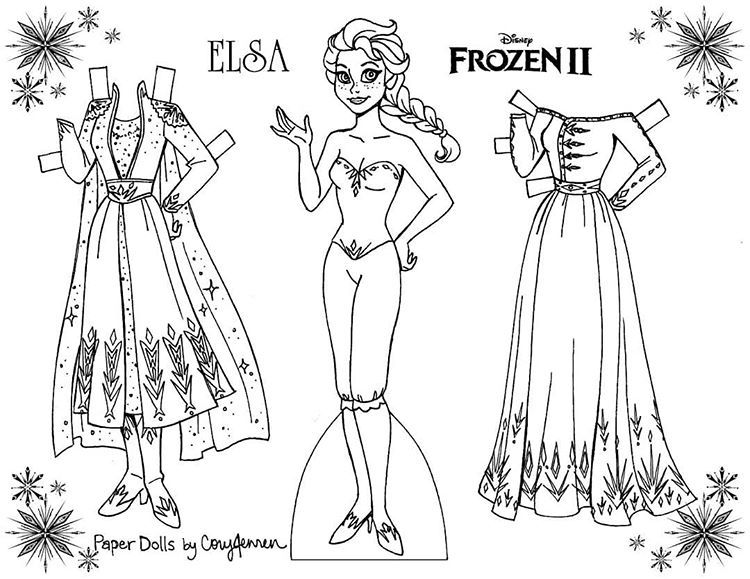 Cory Jensen On Instagram Disneyfrozen Is Amazing I Made Some Coloring Page Paper Dolls To Celebrate Frozen Paper Dolls Disney Paper Dolls Paper Dolls