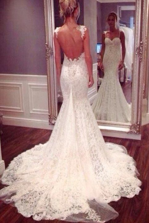 Mermaid Lace Wedding Dress,Dresses For Brides,Bridal Gown