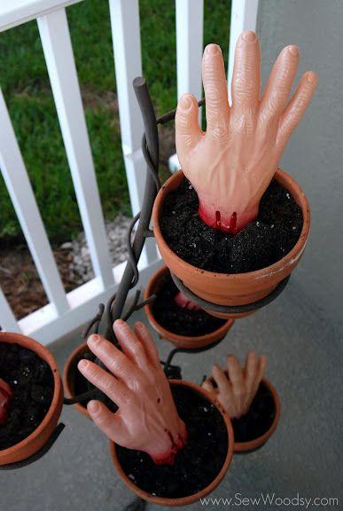 Zombie Planted Hands Halloween Pinterest Halloween parties and