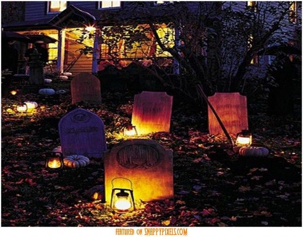 Scary Halloween Decoration Ideas For Outside (34 Yard Pics) - Snappy - halloween outside decoration ideas