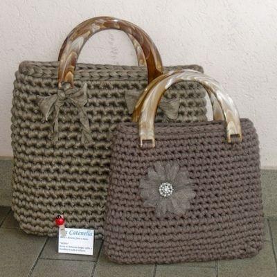 Patron Bolso Rectangular Con Asas De Madera Crochet Bag Crochet Tote Crochet Handbags