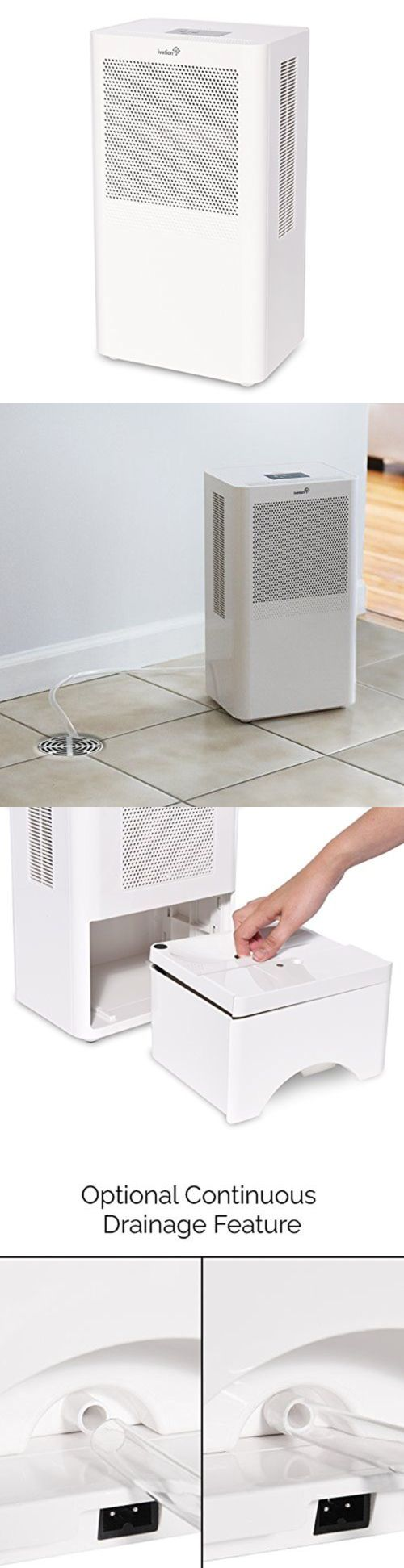 Dehumidifiers 79621: Ivation Small-Area Compact Dehumidifier
