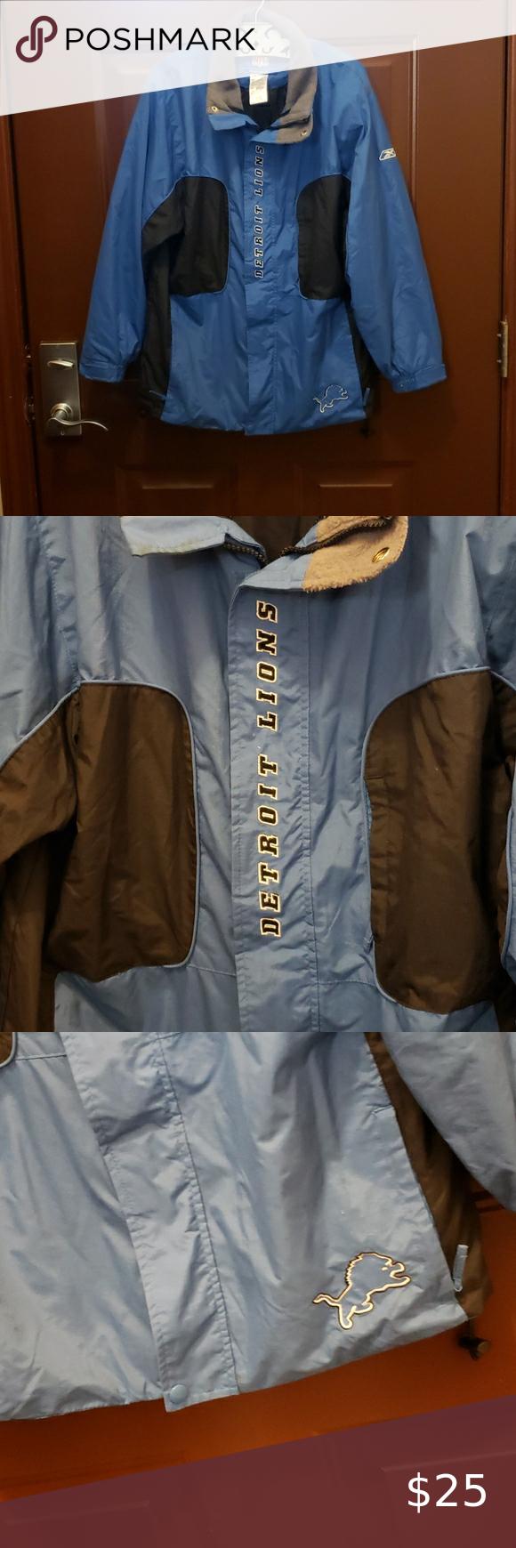 Detroit Lions Nfl Reebok Authentic Team Jacket Team Jackets Warm Jacket Jackets For Women [ 1740 x 580 Pixel ]