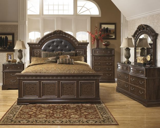 Ashley Southland Shore 5pc King Mansion Bedroom Set 2199 Ashley Bedroom Furniture Sets Ashley Furniture Bedroom Bedroom Sets