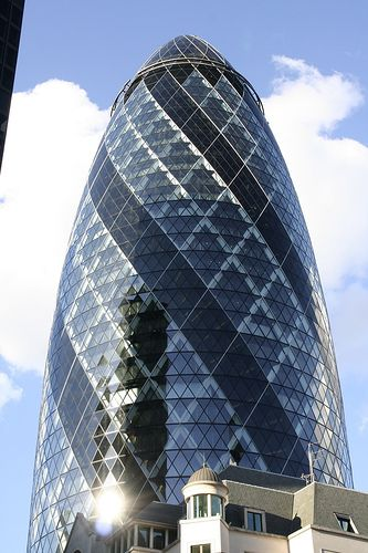 London Gherkin An Unusual Eggshaped Building Travel Pinterest - London-gherkin-an-unusual-eggshaped-building