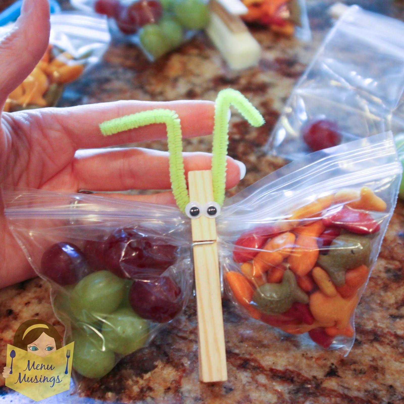 Menu Musings of a Modern American Mom: Butterfly Snack Bags