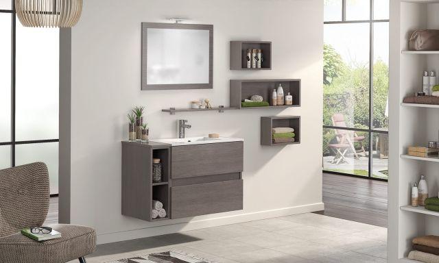 Meuble de salle de bains D Motion L 100 cm natura foncé DElpha
