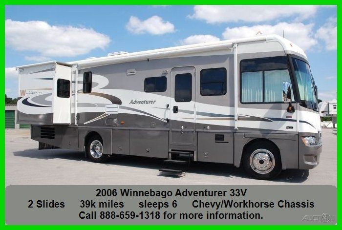 2006 Winnebago Adventurer Class A Motorhome Gas Coach Chevy