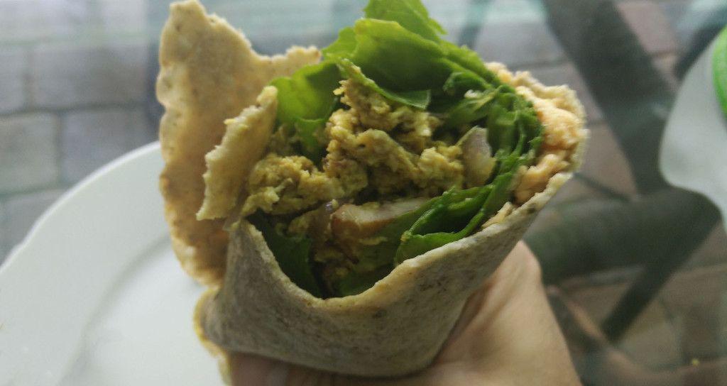 bursting breakfast burrito