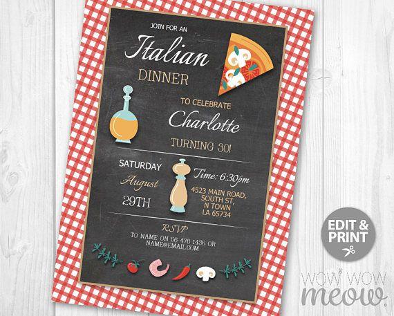 italian birthday invitation instant download surprise pizza invite