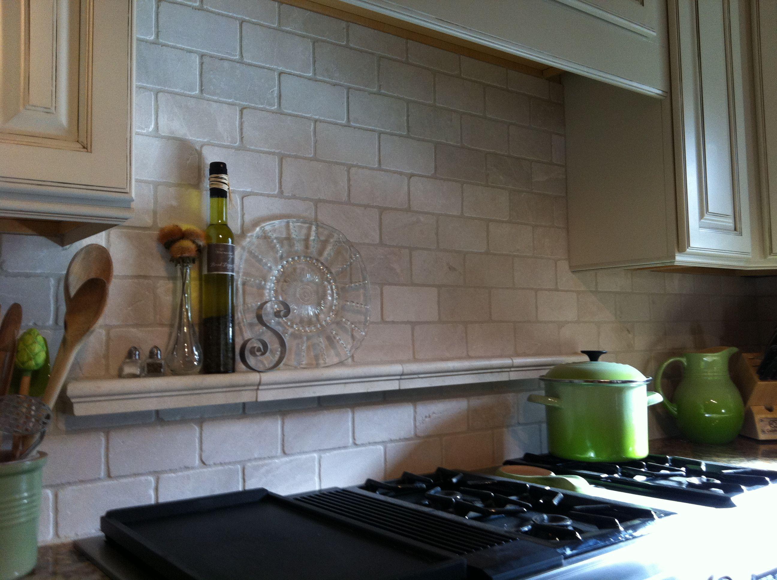 Kitchen Backsplash Shelves tile shelf behind stove | for the home | pinterest | stove