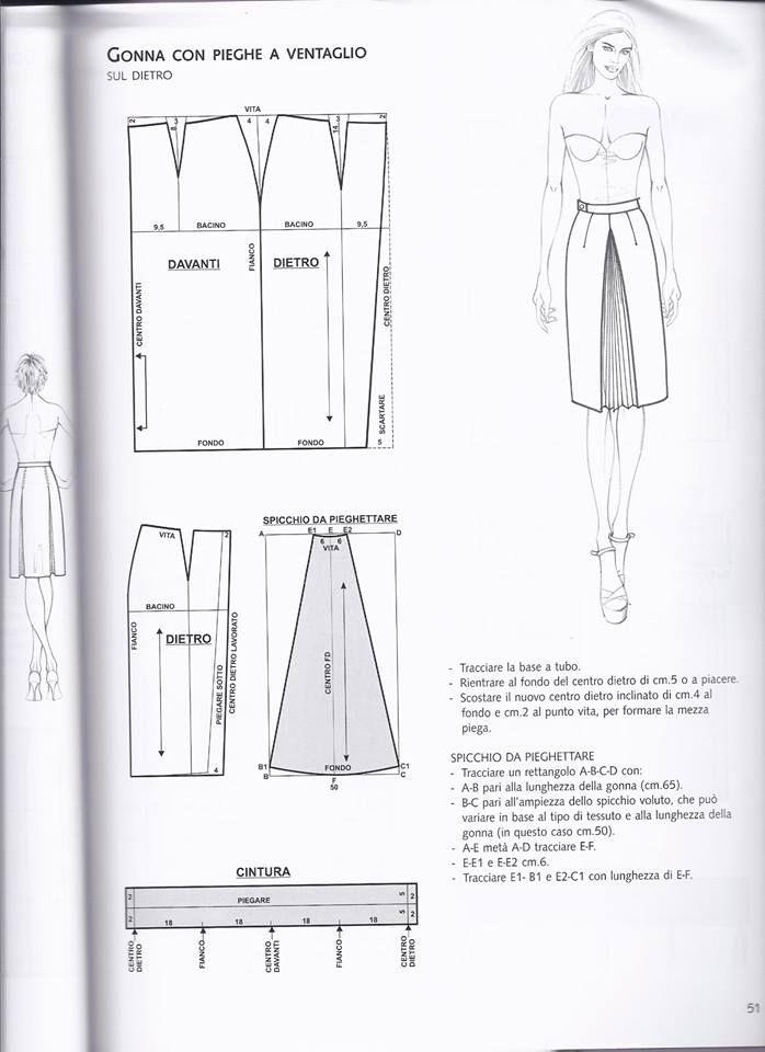 Pin de Lucia Selvaggi en cucito | Pinterest | Costura, Patron falda ...