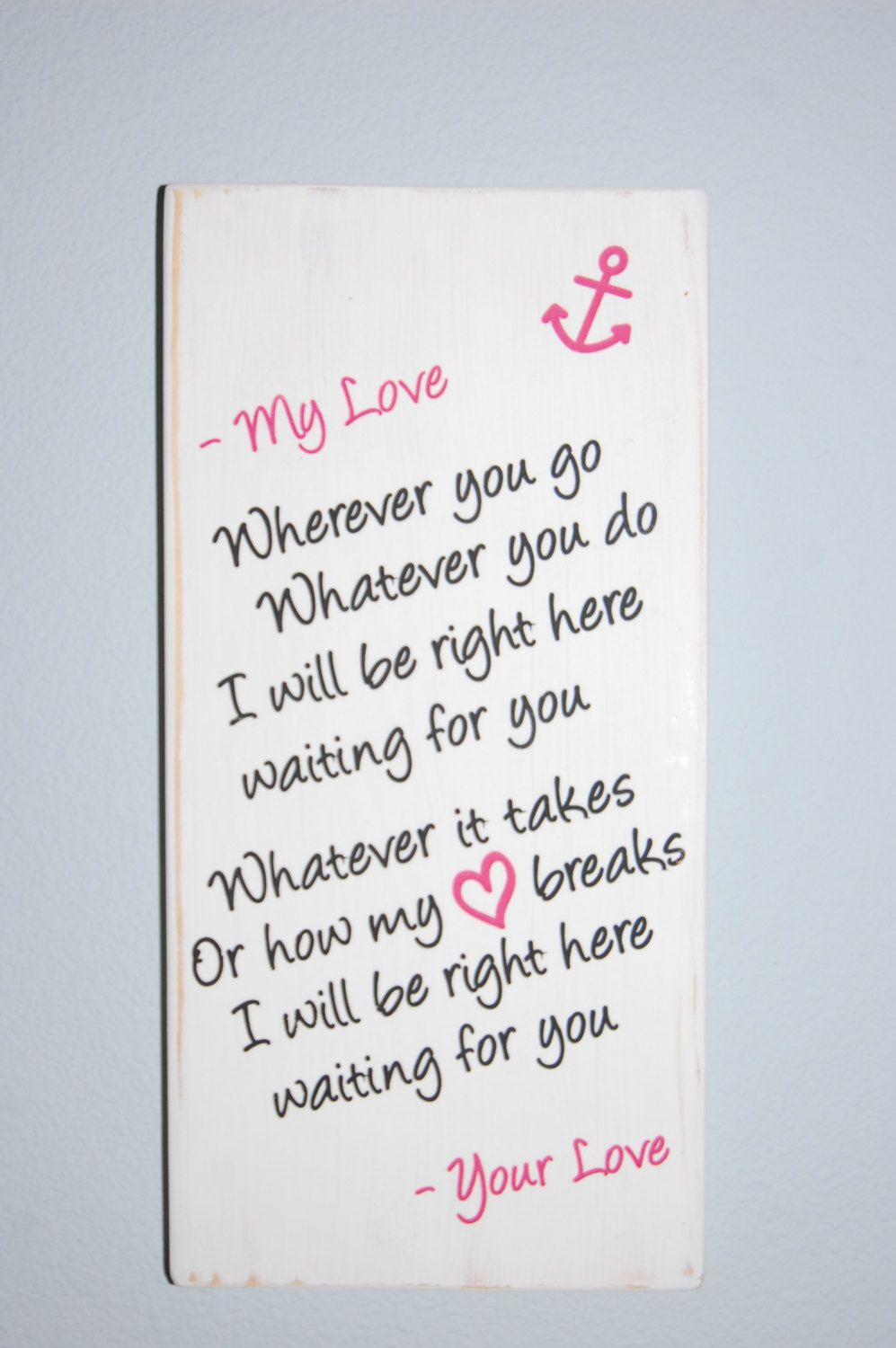 love note to your sailor lyrics by richard by woodsignsbyangela