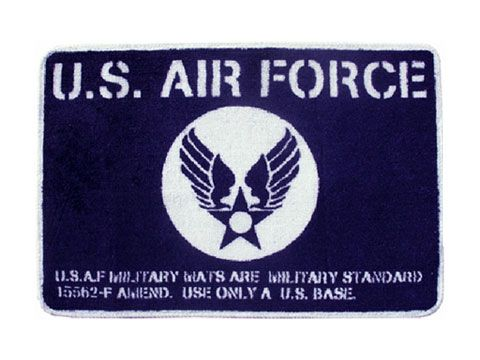U.S.AIR FORCE Goods Floor Mat U.S.エアフォースグッズ フロアマット