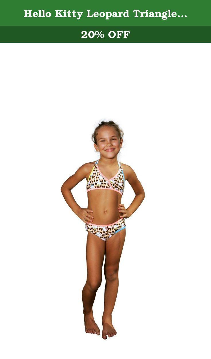 897ffcc87 Hello Kitty Leopard Triangle Bikini - Little Girl (10/12, Leopard). Hello  Kitty Leopard Triangle Bikini - Little Girl.
