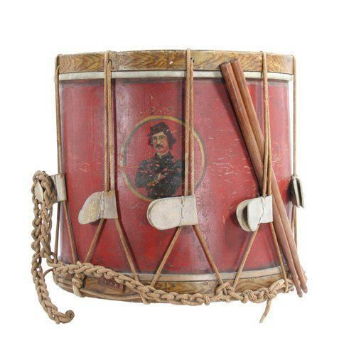 44th nyi drum with elmer ellsworth s image on it the first