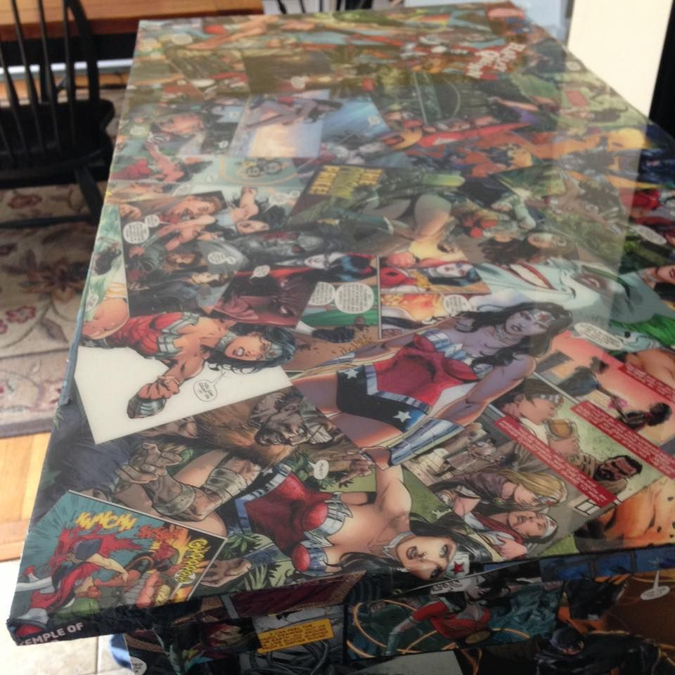comic book furniture. Epoxy Coated Dresser Top. Book FurnitureDresser TopEpoxy CoatingComic Comic Furniture