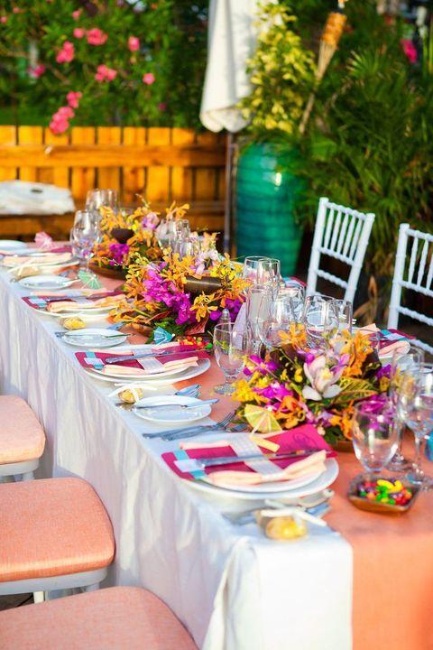 57 Cheerful Tropical Wedding Table Settings | Pinterest | Table ...