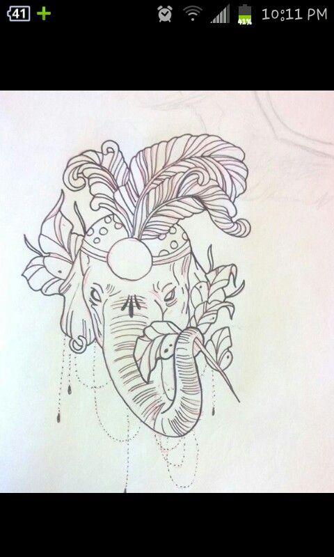 tatoo drawing elephant