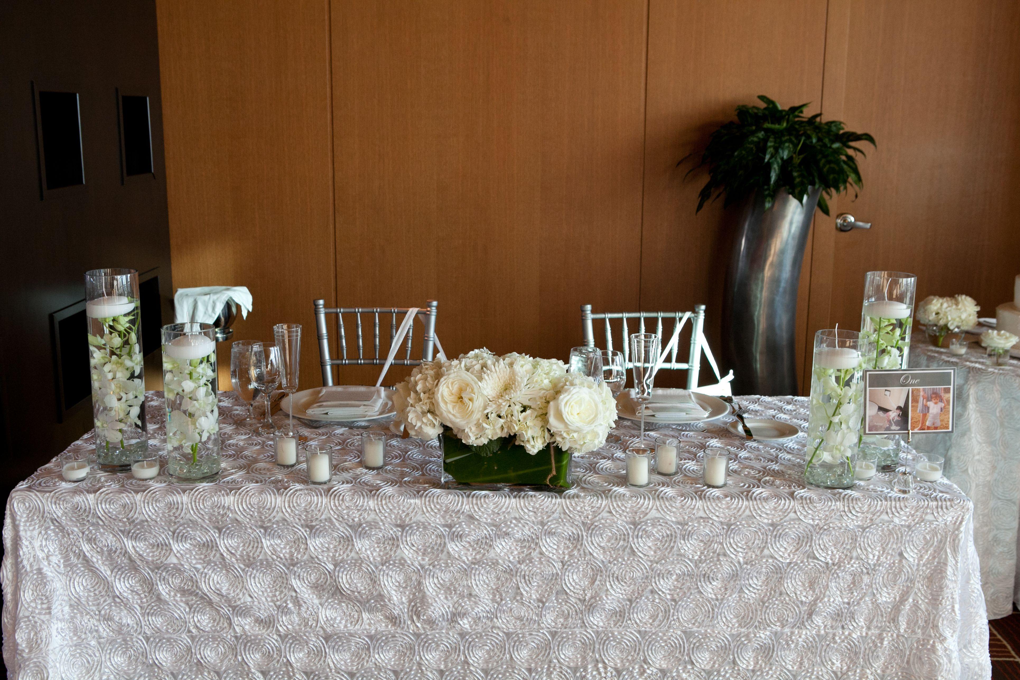 sweetheart table  Photo Credit: Clau Photography  #sweerhearttable #wedding #white