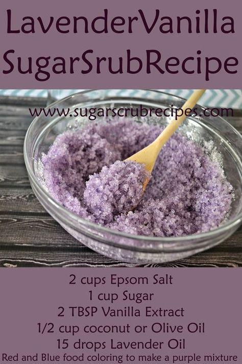Lavender Vanilla Sugar Scrub Recipe- Diy Body Scrub Take our skin ...