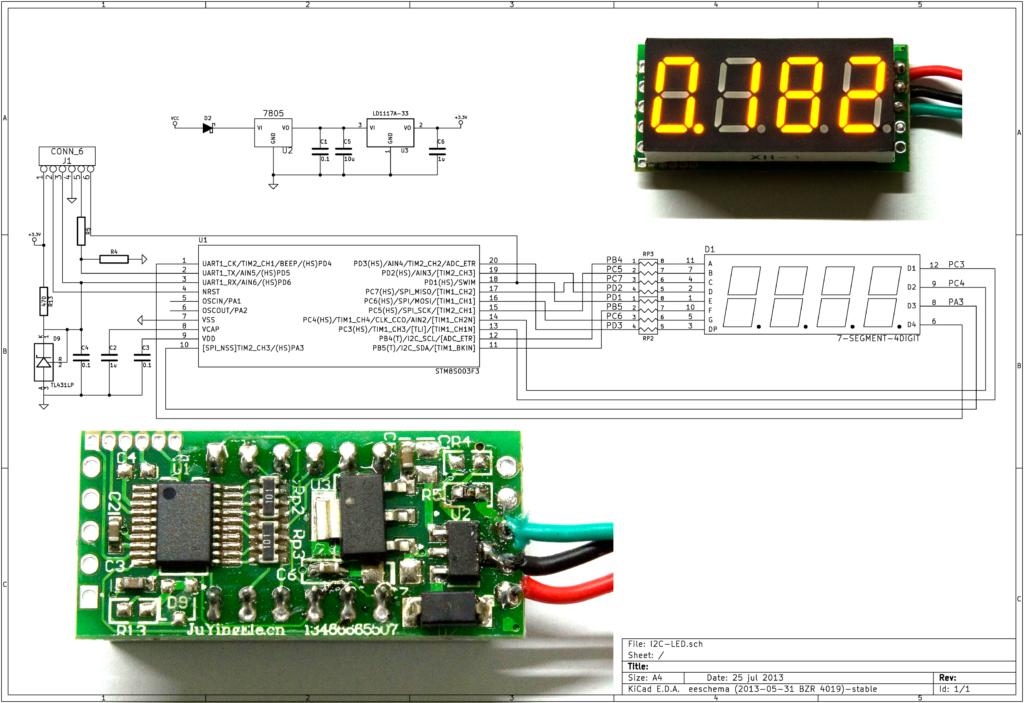 Voltmeter schematic | STM32 STM8 in 2019 | Hacks, Arduino, Led
