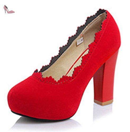 Chaussures Aisun rouges femme 23myMpKy