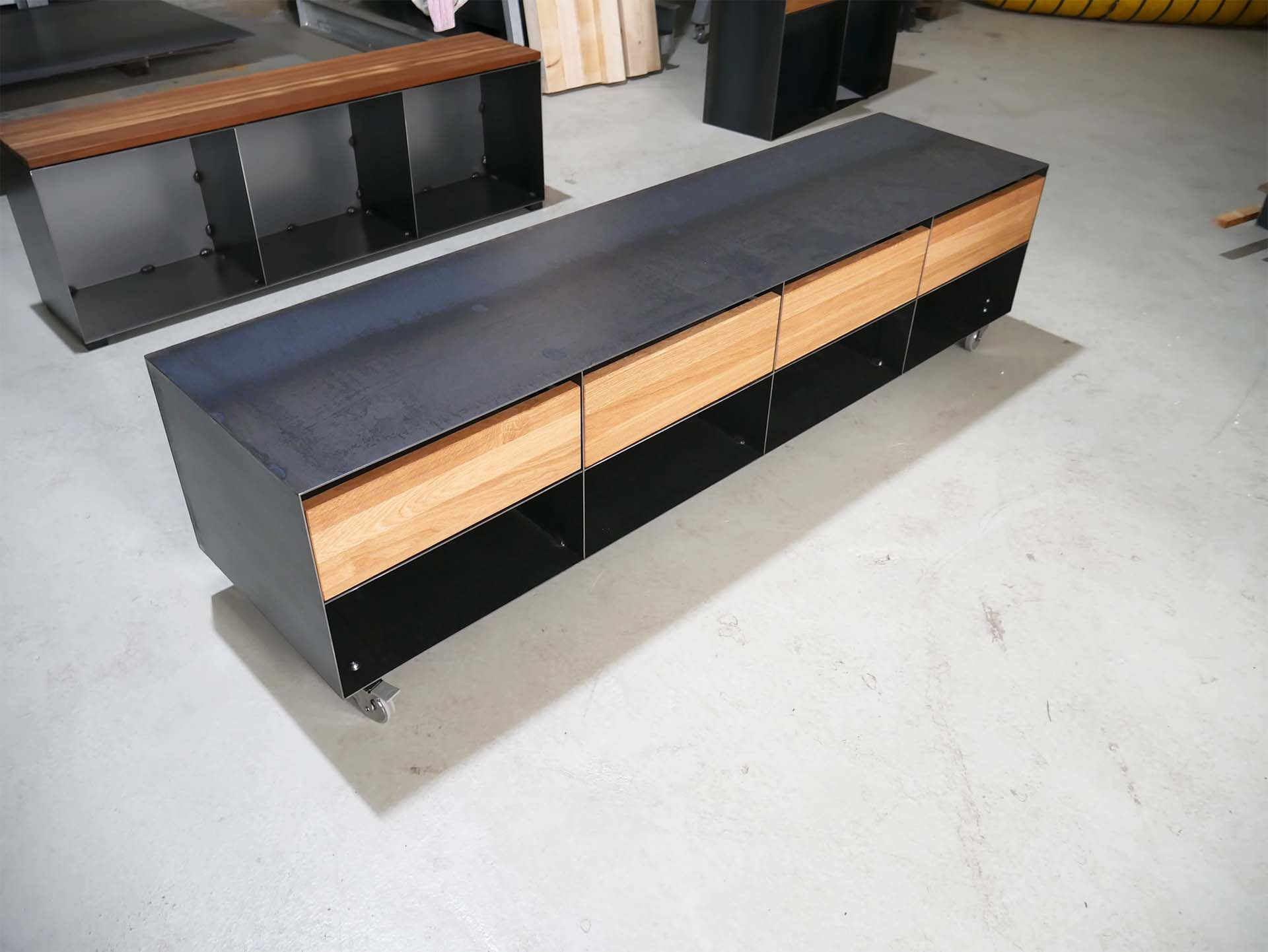 Tv Lowboard Sideboard Classic 052 Holz Schwarz Eiche In 2020