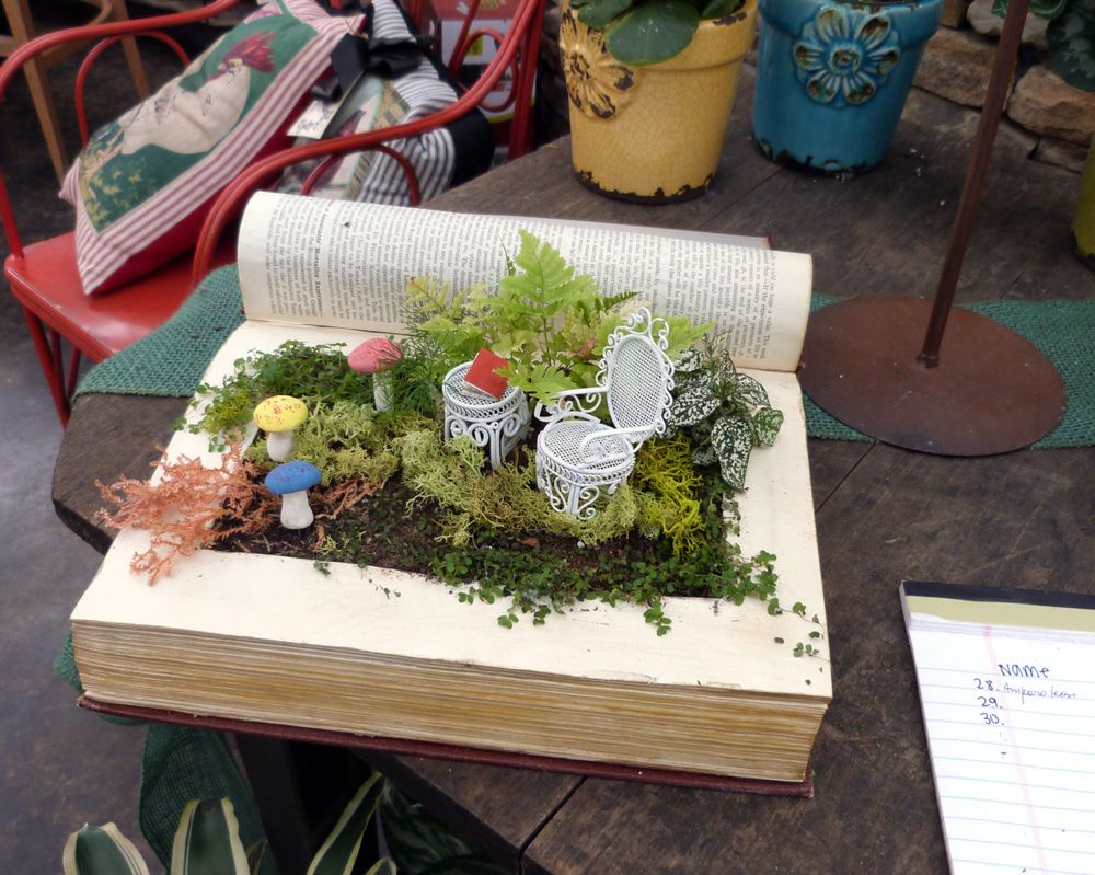 Pinterest party workshop altered fairy garden books fairy miniature gardens and garden ideas for Pinterest cookbook