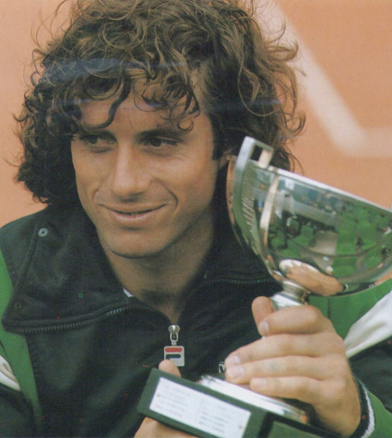 Guillermo Vilas champion of Roland Garros in 1977 tennis
