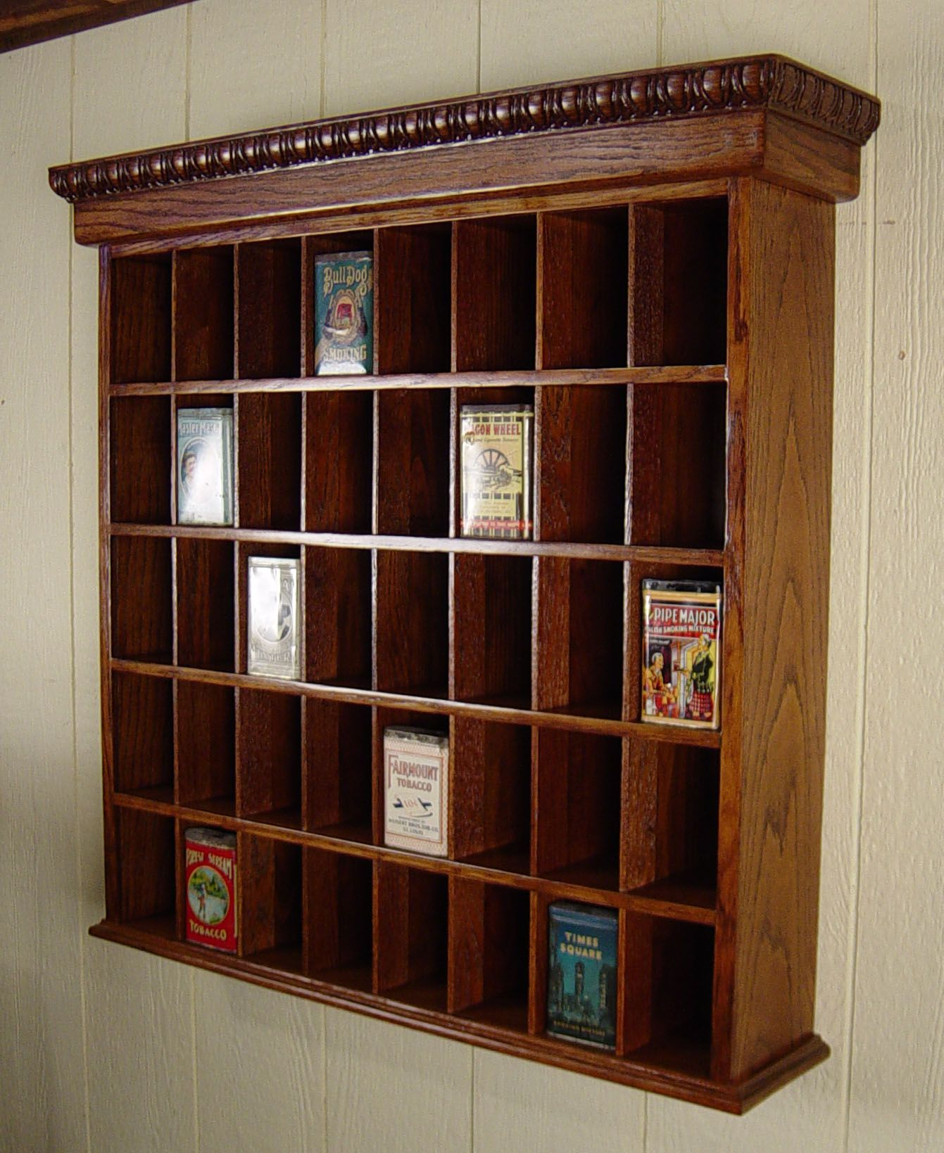 Oak Hotel Key Holder/Cabinet