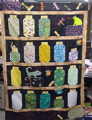 scrapbook bugs | Escaping Bugs - Jar Quilts - Quilting - Free ... : bug quilt - Adamdwight.com