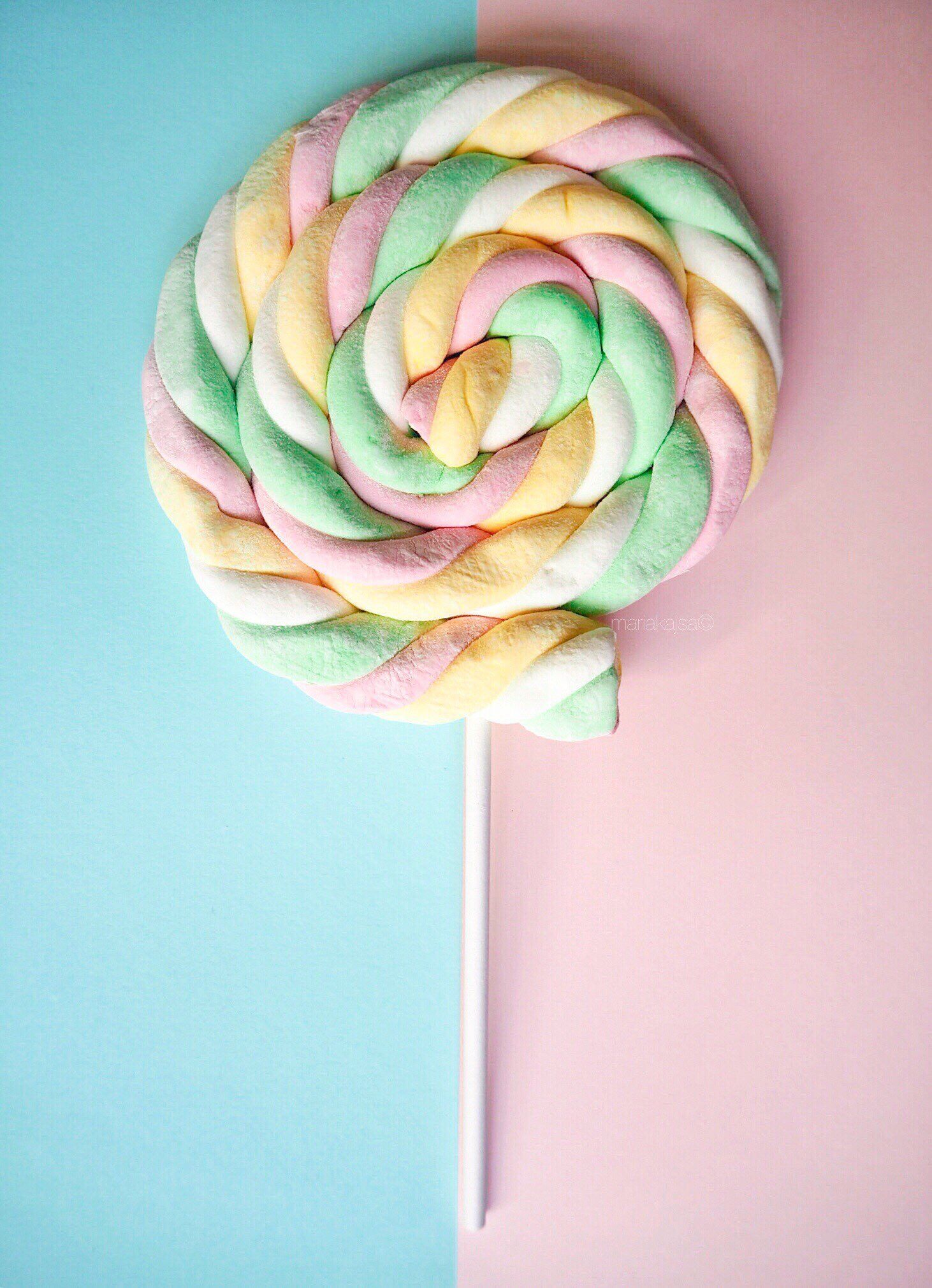 Iphone And Android Wallpapers Pastel Candy Lollipop Wallpaper For Iphone And Android Beingmariakajsa On Ins Pastel Candy Candy Photography Android Wallpaper