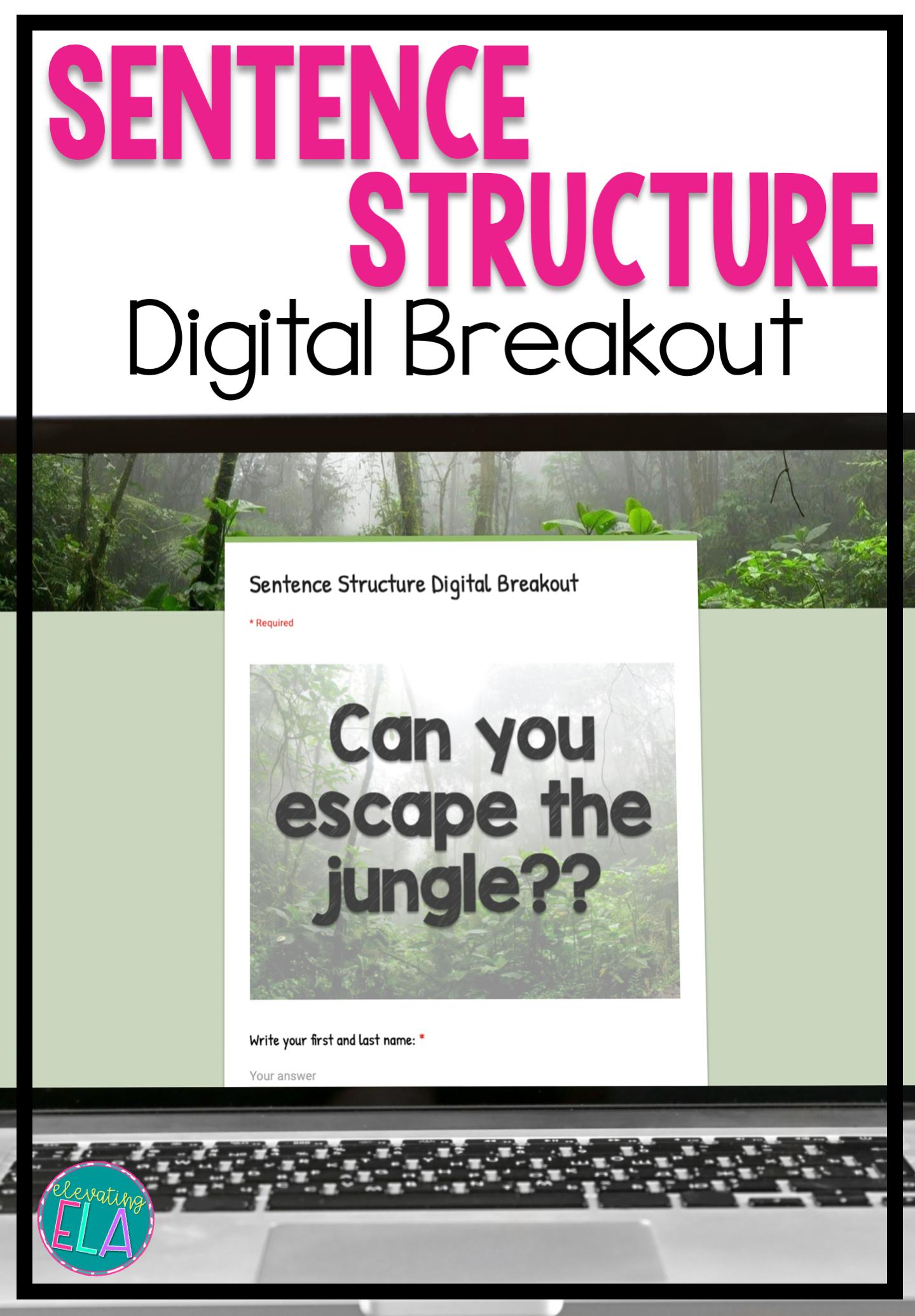 Sentence Structure Activity Digital Breakout