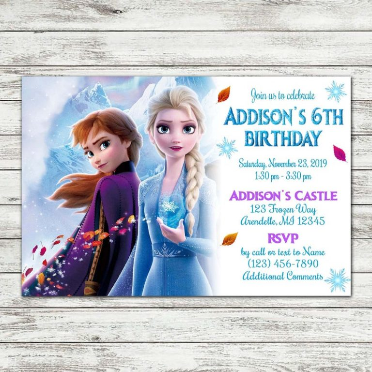 Frozen 2 Birthday Party Frozen Themed Birthday Party Frozen Birthday Party Invites 2nd Birthday Invitations
