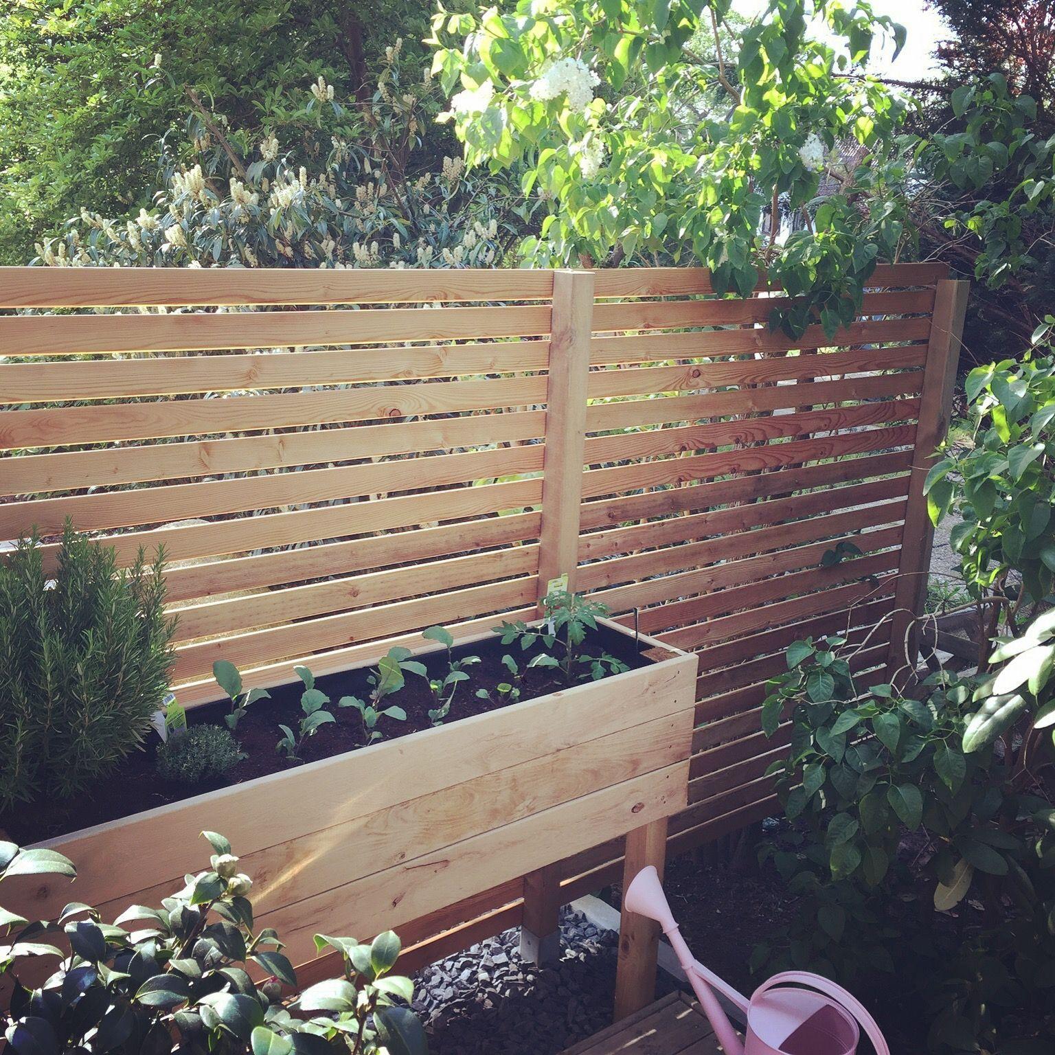 Sichtschutz Und Hochbeet Haus Und Garten Hochbeet Garten