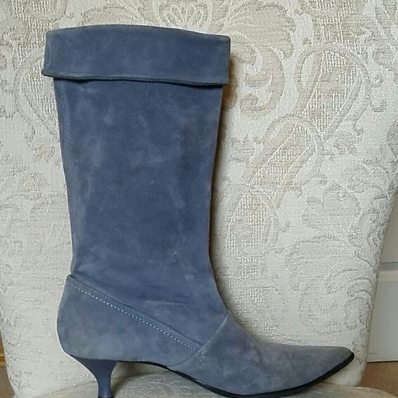 SALE FRANCO SARTO BLUE LEATHER ANKLE BOOTS Good shape Franco Sarto Shoes Ankle Boots & Booties