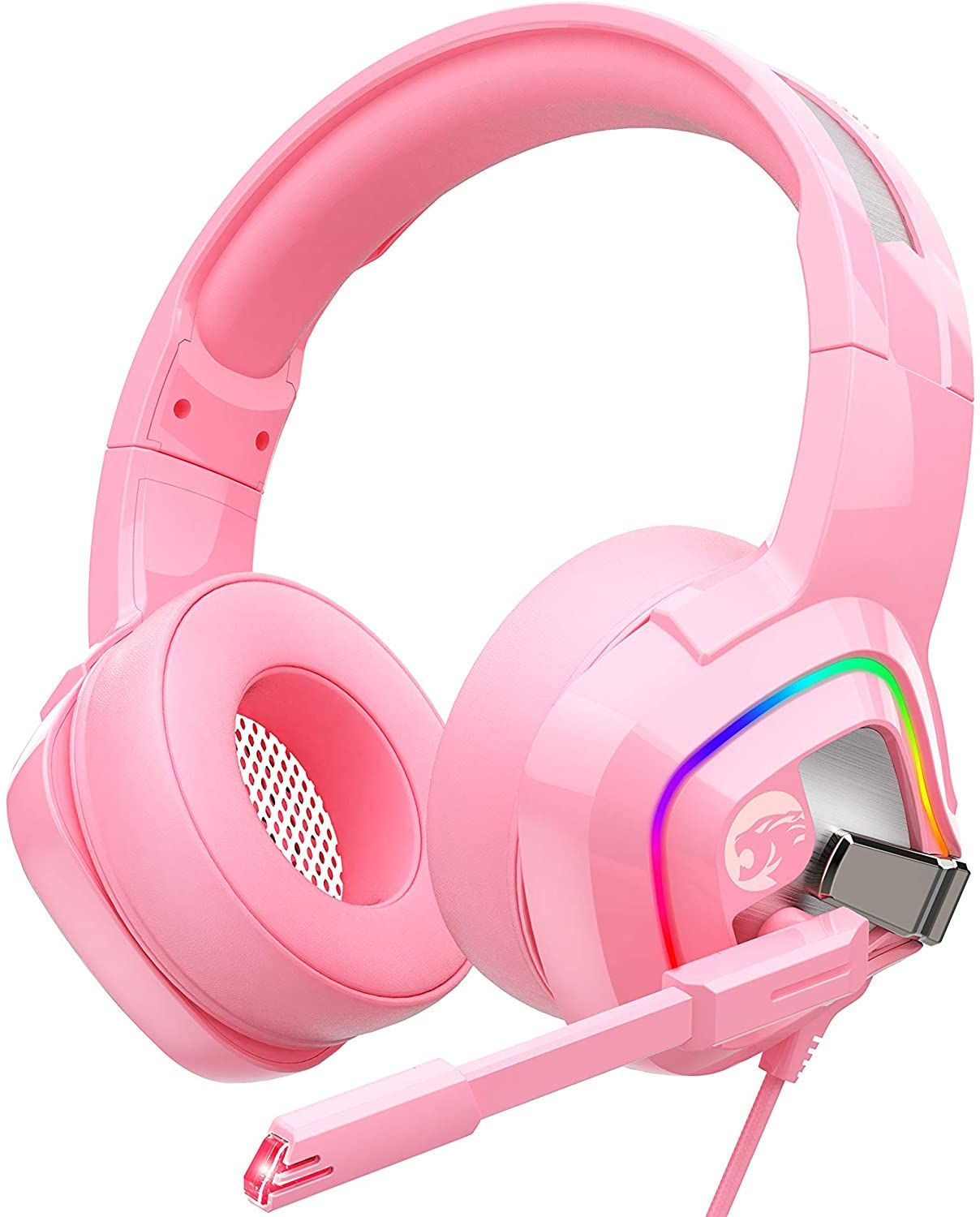 Pink Gaming Headset in 2020 Girl with headphones, Cute