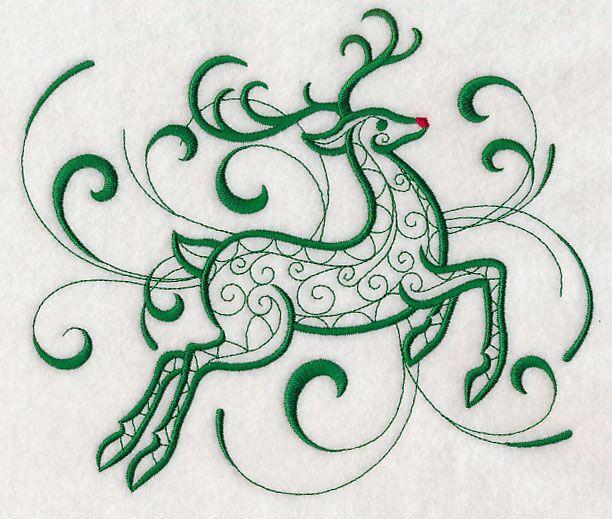 Inky Christmas Reindeer Machine Embroidery Pinterest