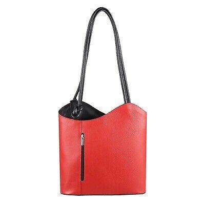 Photo of ITAL DAMEN LEDER TASCHE RUCKSACK Shopper Handtasche Schultertasche Lederrucksack…
