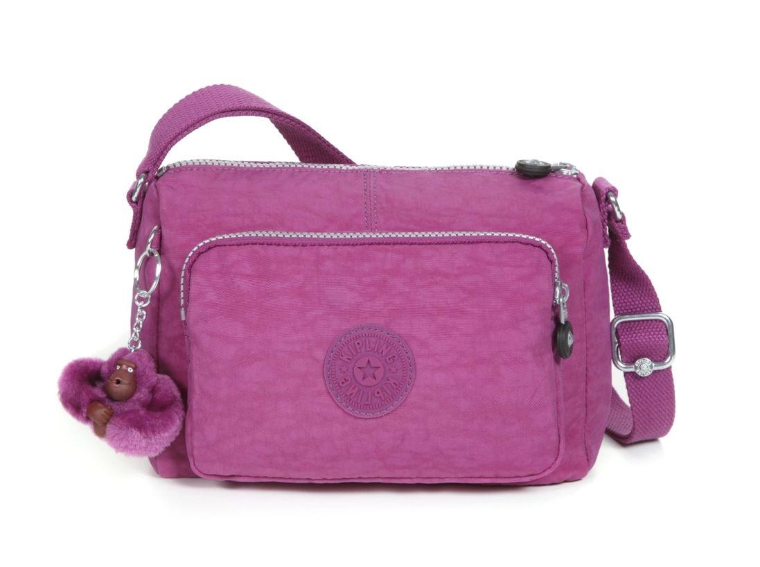 Kipling Dark Plum Medium Shoulder Bag | Bags, Kipling bags