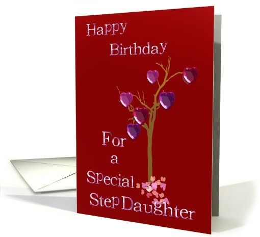 Step Daughter Birthday Cards Tree Of Hearts Birthday Step Daughter