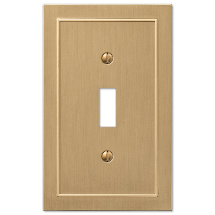 Lowes Wall Plates Allen  Roth Bethany 1Gang Champagne Bronze Toggle Wall Plate