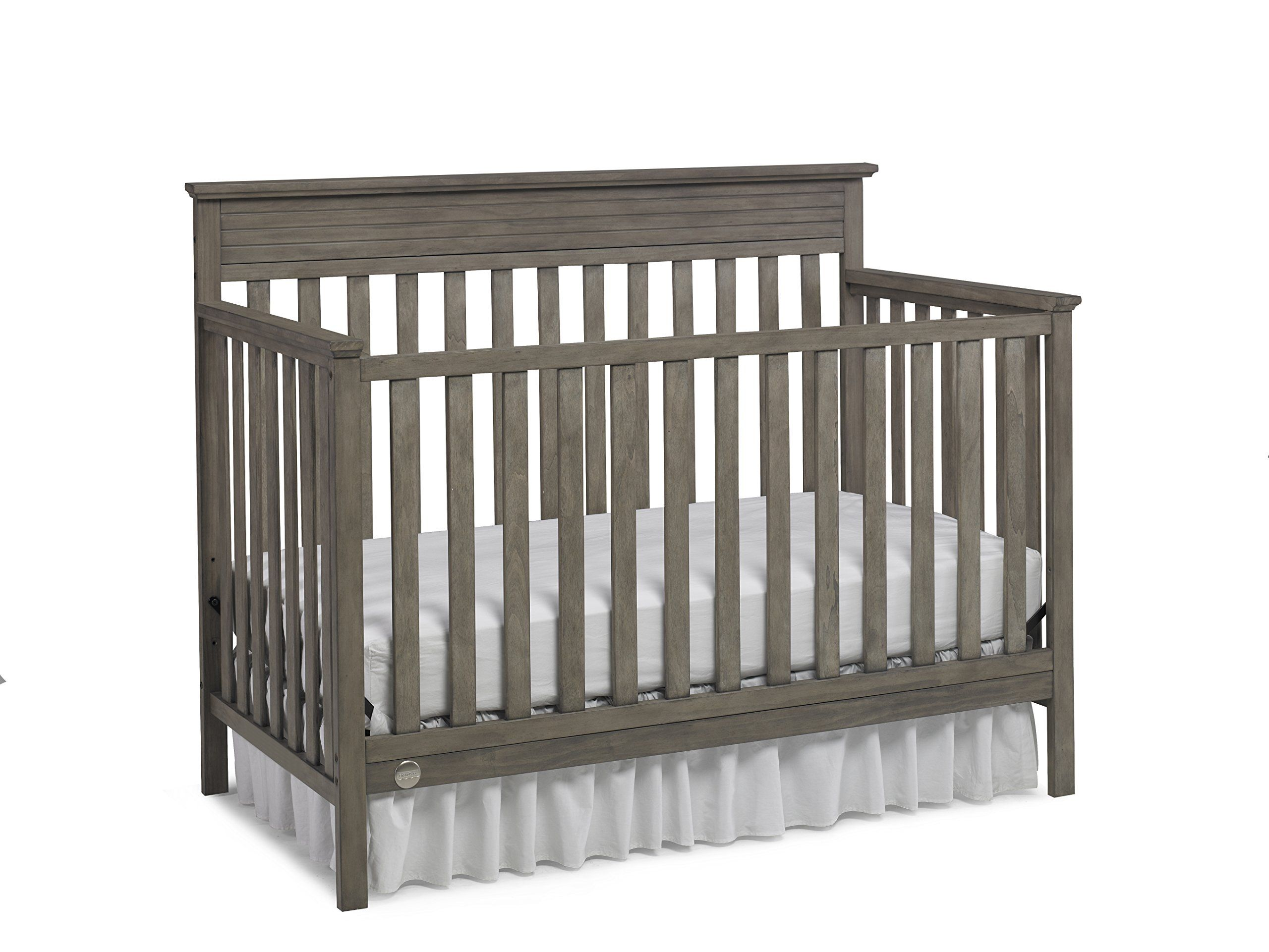 fisher price newbury 4 in 1 convertible crib vintage grey fixed